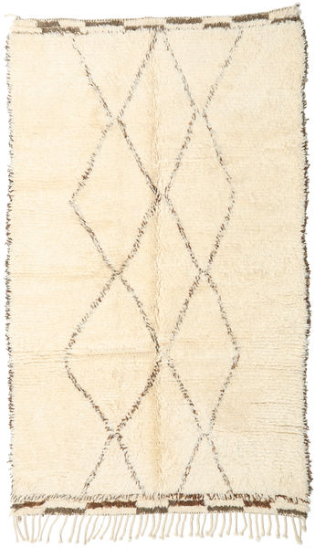 Berber Moroccan - Beni Ourain Rug 146X247 Authentic  Modern Handknotted Beige (Wool, Morocco)
