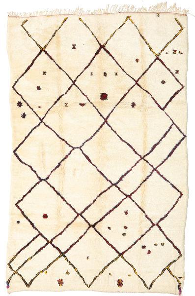 Berber Moroccan - Beni Ourain 絨毯 198X312 モダン 手織り ベージュ/暗めのベージュ色の (ウール, モロッコ)