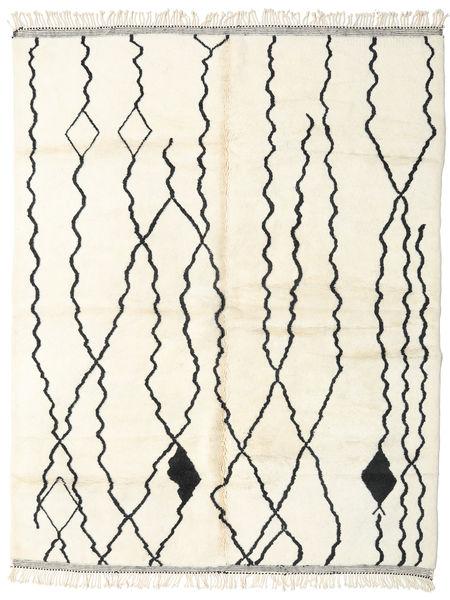 Berber Moroccan - Beni Ourain Vloerkleed 252X322 Echt Modern Handgeknoopt Beige/Wit/Creme Groot (Wol, Marokko)