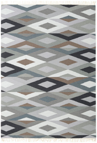 Zimba - Grey Rug 160X230 Authentic  Modern Handwoven Light Grey/Beige/Dark Grey (Wool, India)