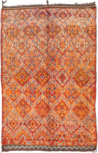Berber Moroccan - Mid Atlas 絨毯 187X295 モダン 手織り オレンジ/濃い茶色 (ウール, モロッコ)