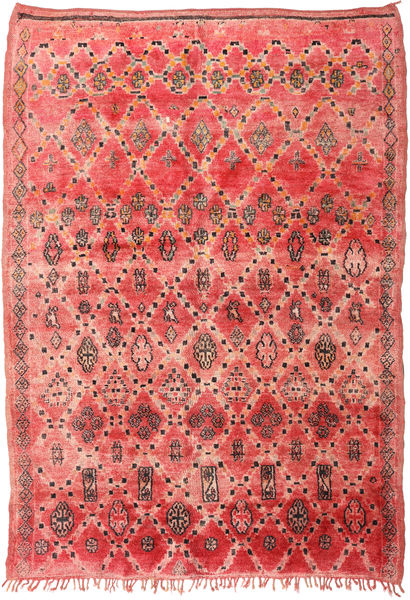 Berber Moroccan - Mid Atlas Rug 210X300 Authentic  Modern Handknotted Rust Red/Dark Beige (Wool, Morocco)