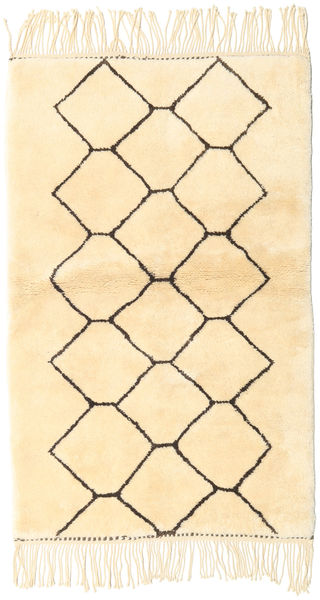 Berber Moroccan - Beni Ourain Rug 98X160 Authentic  Modern Handknotted Beige/Light Pink (Wool, Morocco)