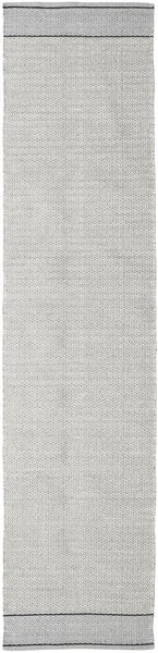 Norma - Black Rug 80X250 Authentic  Modern Handwoven Hallway Runner  Light Grey (Cotton, India)