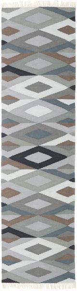 Zimba - グレー 絨毯 80X300 モダン 手織り 廊下 カーペット 薄い灰色/濃いグレー (ウール, ペルシャ/イラン)