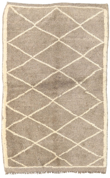 Berber Moroccan - Mid Atlas Matto 110X168 Moderni Käsinsolmittu Vaaleanharmaa/Beige (Villa, Marokko)