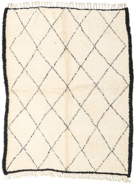 Berber Moroccan - Beni Ourain 絨毯 187X250 モダン 手織り ベージュ/ホワイト/クリーム色 (ウール, モロッコ)