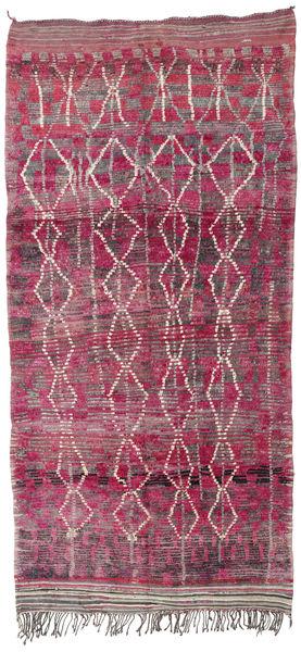 Berber Moroccan - Mid Atlas Rug 180X380 Authentic  Modern Handknotted Hallway Runner  Light Purple/Purple (Wool, Morocco)