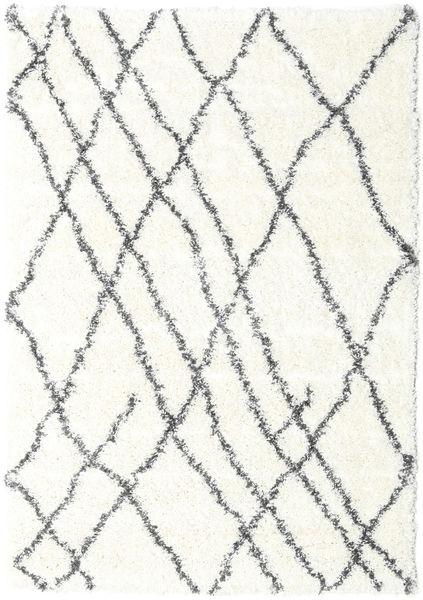 Shaggy Tangier - White/Ciemnoszary Dywan 160X230 Nowoczesny Beżowy/Jasnoszary ( Turcja)