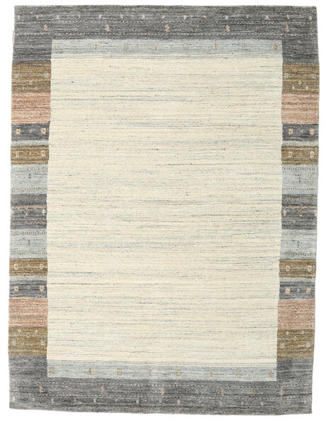 Gabbeh Indo Rug 178X237 Authentic  Modern Handknotted Light Grey/Beige (Wool, India)