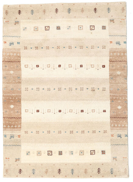 Gabbeh Indie Dywan 140X199 Nowoczesny Tkany Ręcznie Beżowy (Wełna, Indie)