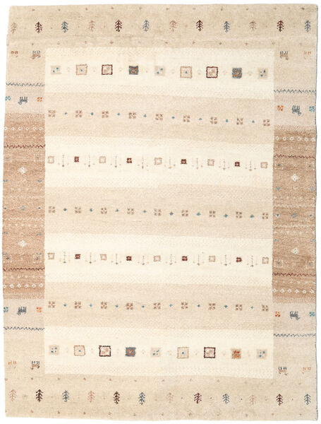 Gabbeh Indo Rug 173X231 Authentic  Modern Handknotted Beige (Wool, India)