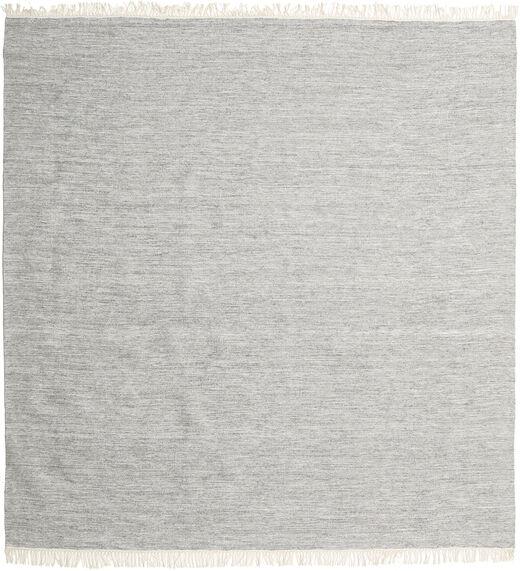 Melange - Szürke Szőnyeg 200X200 Modern Kézi Szövésű Szögletes Világosszürke/Bézs (Gyapjú, India)