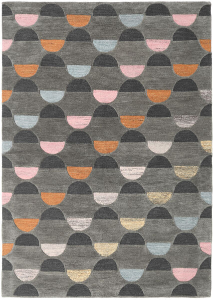 Candy - Grey/Multi Rug 160X230 Modern Dark Grey/Light Grey (Wool, India)