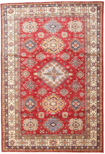 Kazak Rug 201X296 Authentic  Oriental Handknotted Rust Red/Dark Red (Wool, Pakistan)