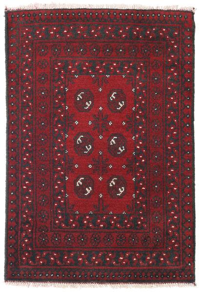 Afghan Matto 81X118 Itämainen Käsinsolmittu Tummanpunainen/Musta (Villa, Afganistan)