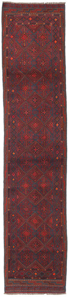 Baluch Rug 61X279 Authentic  Oriental Handknotted Hallway Runner  Dark Red/Dark Grey/Dark Brown (Wool, Afghanistan)