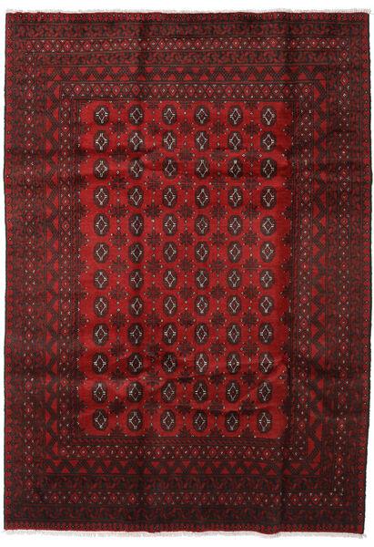 Afghan Rug 199X282 Authentic  Oriental Handknotted Dark Red/Dark Brown (Wool, Afghanistan)