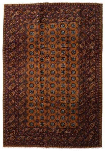 Afgan Dywan 202X295 Orientalny Tkany Ręcznie Ciemnobrązowy/Brązowy (Wełna, Afganistan)