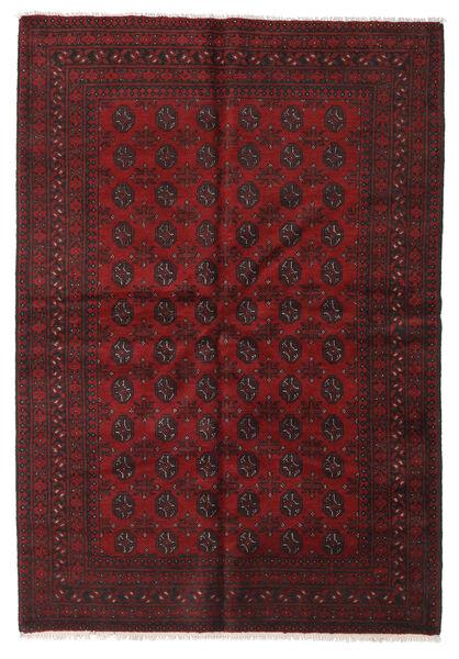Afgan Dywan 163X233 Orientalny Tkany Ręcznie Ciemnoczerwony/Ciemnobrązowy (Wełna, Afganistan)