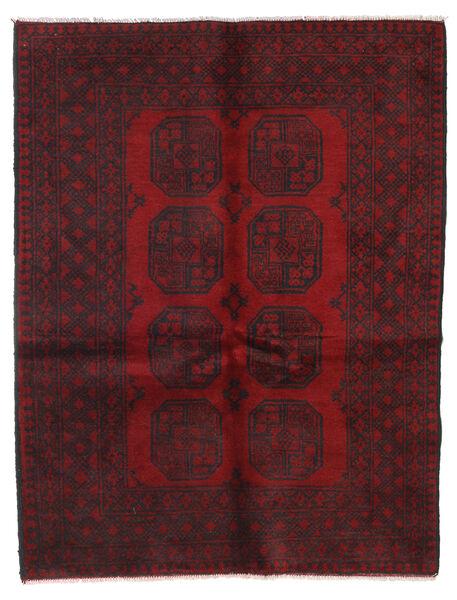 アフガン 絨毯 149X189 オリエンタル 手織り 深紅色の/濃い茶色 (ウール, アフガニスタン)