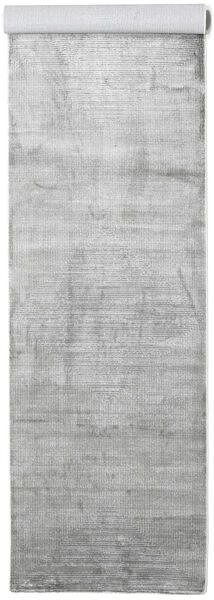 Illusion - Grey Rug 100X400 Modern Hallway Runner  Light Grey/White/Creme ( Turkey)