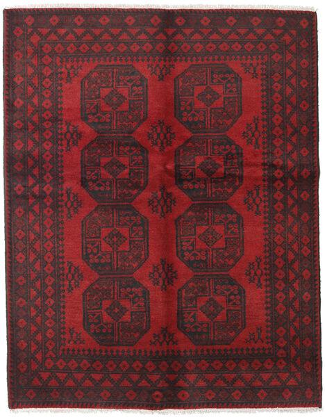 Afgan Dywan 151X192 Orientalny Tkany Ręcznie Ciemnobrązowy/Ciemnoczerwony (Wełna, Afganistan)
