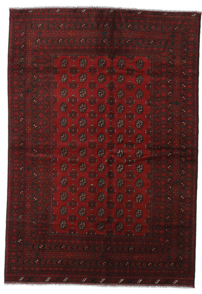 Afgan Dywan 200X288 Orientalny Tkany Ręcznie Ciemnoczerwony (Wełna, Afganistan)