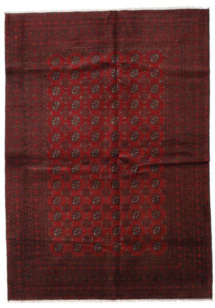 アフガン 絨毯 202X283 オリエンタル 手織り 深紅色の (ウール, アフガニスタン)