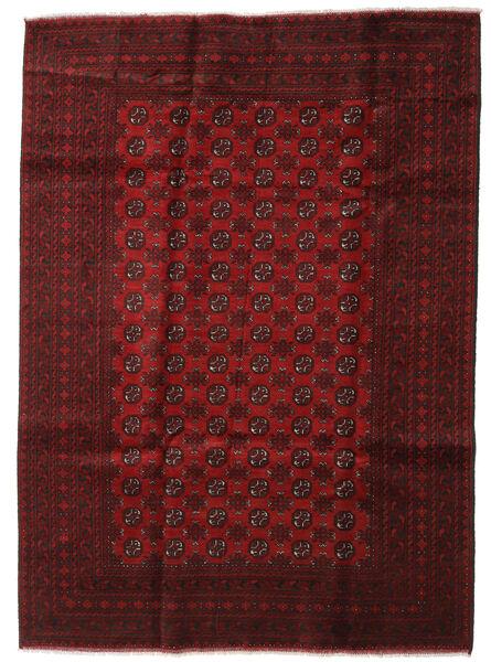 アフガン 絨毯 202X279 オリエンタル 手織り 深紅色の/赤 (ウール, アフガニスタン)