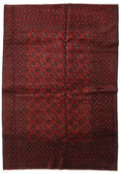 Afgan Dywan 201X286 Orientalny Tkany Ręcznie Ciemnoczerwony (Wełna, Afganistan)