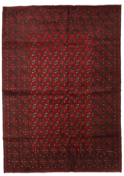 Afghan Rug 204X286 Authentic  Oriental Handknotted Dark Red/Crimson Red (Wool, Afghanistan)
