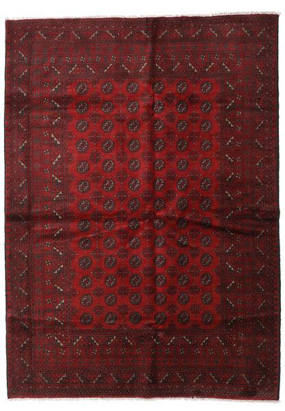 Afgan Dywan 205X283 Orientalny Tkany Ręcznie Ciemnoczerwony (Wełna, Afganistan)