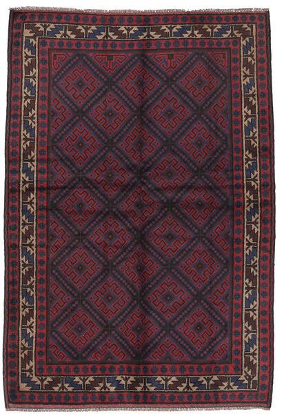 バルーチ 絨毯 156X235 オリエンタル 手織り 紺色の/深紅色の (ウール, アフガニスタン)