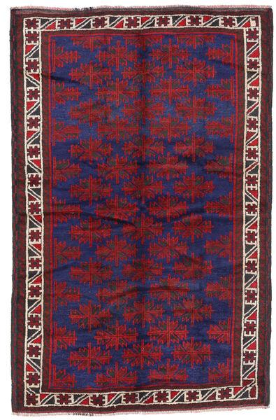 Baluch Rug 160X250 Authentic  Oriental Handknotted Dark Purple/Dark Red (Wool, Afghanistan)