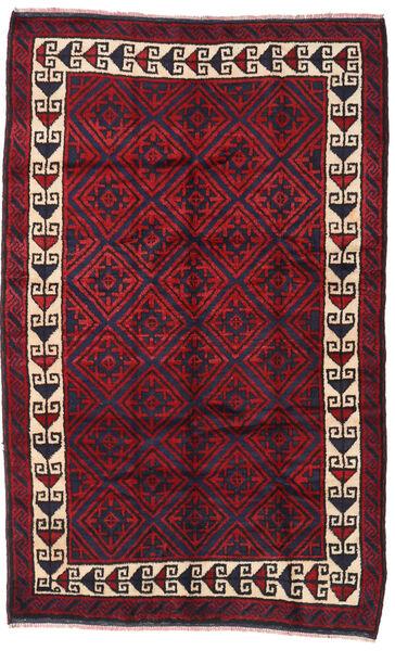バルーチ 絨毯 160X255 オリエンタル 手織り 濃い紫/赤 (ウール, アフガニスタン)