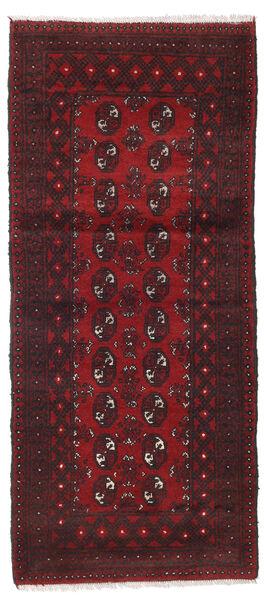 Afgan Dywan 86X196 Orientalny Tkany Ręcznie Chodnik Ciemnoczerwony/Czarny (Wełna, Afganistan)
