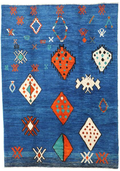 Barchi/Moroccan Berber - Afganistan Alfombra 198X282 Moderna Hecha A Mano Azul/Azul Oscuro (Lana, Afganistán)