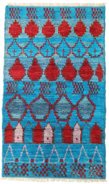 Barchi/Moroccan Berber - Afganistan Matto 113X190 Moderni Käsinsolmittu Siniturkoosi/Tummanvioletti (Villa, Afganistan)