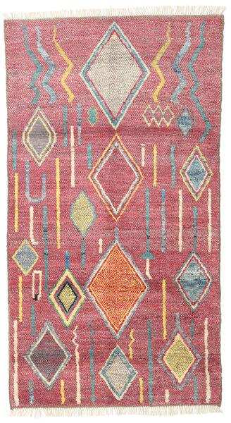 Barchi/Moroccan Berber - Afganistan Vloerkleed 101X184 Echt Modern Handgeknoopt Roze/Bruin (Wol, Afghanistan)