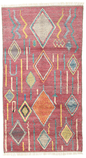 Barchi/Moroccan Berber - Afganistan Alfombra 101X184 Moderna Hecha A Mano Rosa/Marrón (Lana, Afganistán)