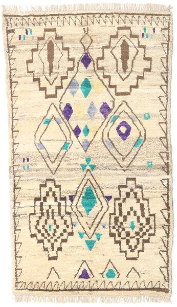 Barchi/Moroccan Berber - Afganistan Matto 112X193 Moderni Käsinsolmittu Beige/Tummanbeige (Villa, Afganistan)