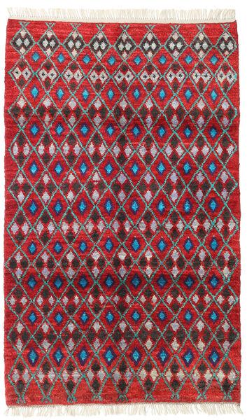 Barchi/Moroccan Berber - Afganistan Matto 113X188 Moderni Käsinsolmittu Punainen/Tummanpunainen (Villa, Afganistan)