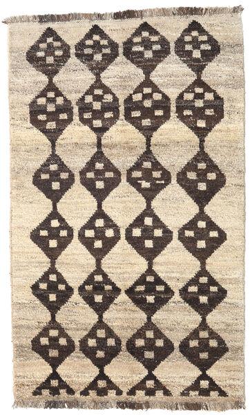 Barchi/Moroccan Berber - Afganistan Matto 118X190 Moderni Käsinsolmittu Beige/Tummanruskea/Vaaleanharmaa (Villa, Afganistan)