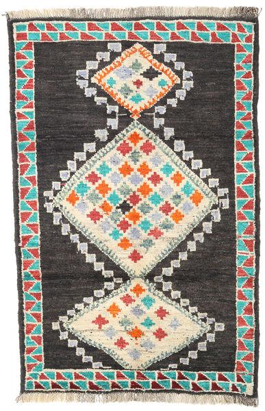 Barchi/Moroccan Berber - Afganistan Matto 122X187 Moderni Käsinsolmittu Tummanharmaa/Beige (Villa, Afganistan)