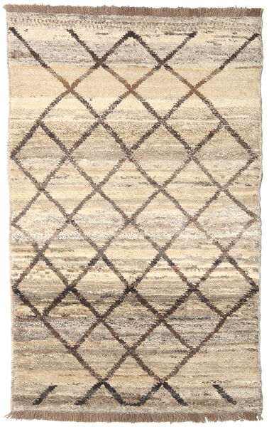 Barchi/Moroccan Berber - Afganistan Matto 118X191 Moderni Käsinsolmittu Beige/Vaaleanharmaa (Villa, Afganistan)