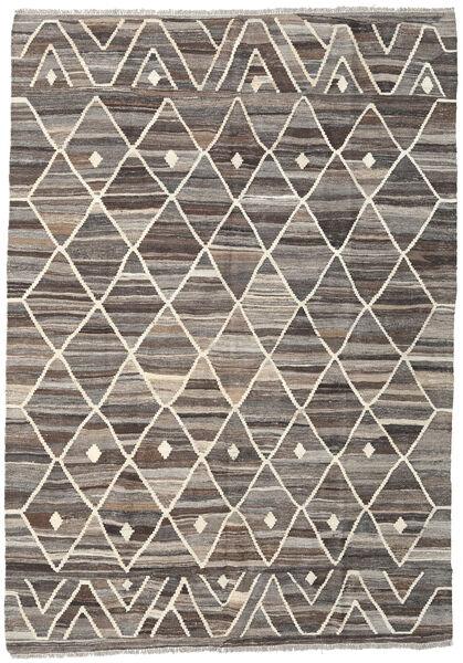 Kilim Ariana Dywan 176X250 Nowoczesny Tkany Ręcznie Jasnoszary/Ciemnobrązowy (Wełna, Afganistan)