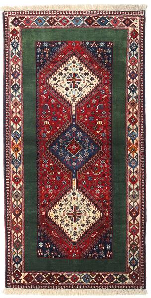 Yalameh Covor 102X200 Orientale Lucrat Manual Gri Închis/Maro (Lână, Persia/Iran)