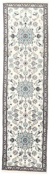 Nain Dywan 76X281 Orientalny Tkany Ręcznie Chodnik Beżowy/Jasnoszary (Wełna, Persja/Iran)