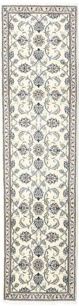 Nain Dywan 78X309 Orientalny Tkany Ręcznie Chodnik Beżowy/Jasnoszary (Wełna, Persja/Iran)